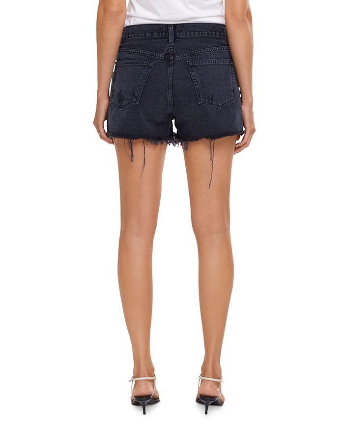 AGOLDE Jeans PARKER FRAYED HEM JEAN SHORTS IN VORTEX