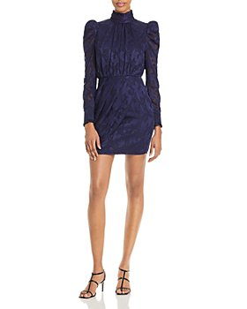 AQUA - Puff Sleeve Turtleneck Cocktail Dress - 100% Exclusive
