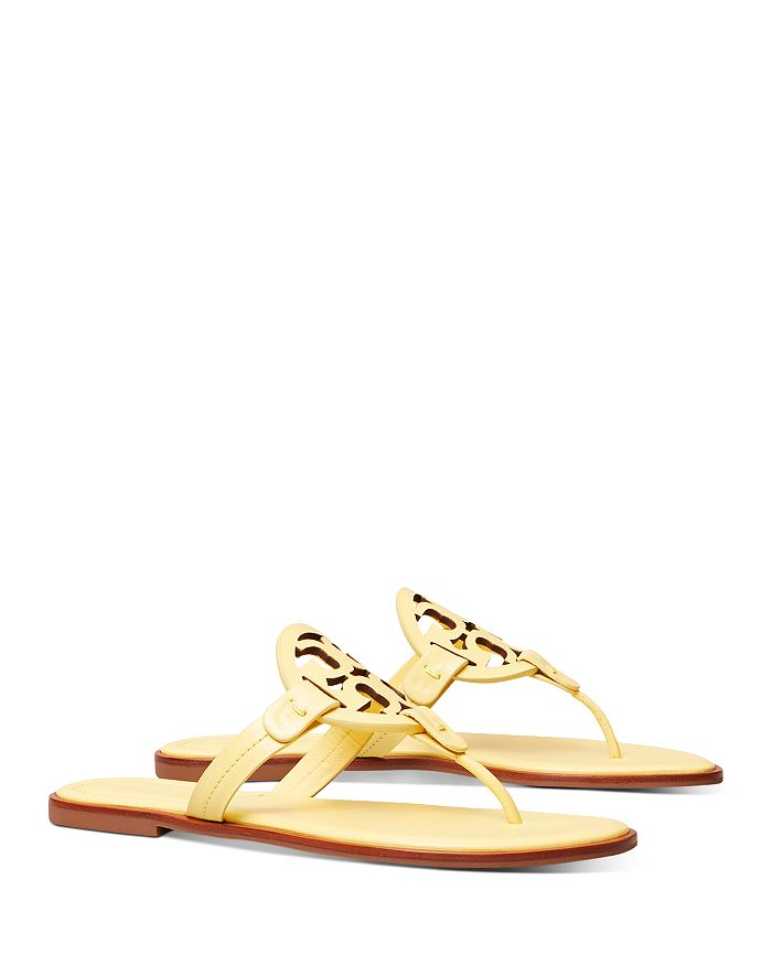 Tory Burch - Women's Miller Welt Double T Leather Thong Sandals