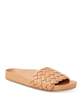 Loeffler Randall - Women's Sonnie Woven Leather Slide Sandals