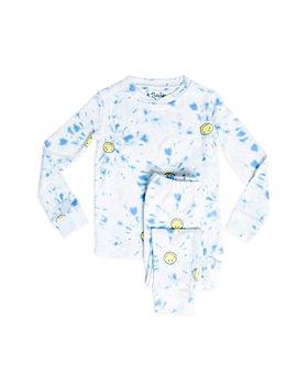 PJ Salvage - Unisex Smiley Print Pajama Set - Little Kid, Big Kid