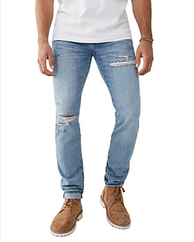 True Religion - Rocco Distressed Skinny Fit Jeans in Pony Express