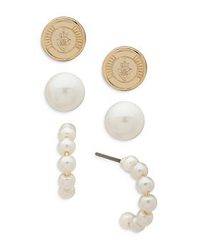 Ralph Lauren - Imitation Pearl Earrings, Set of 3