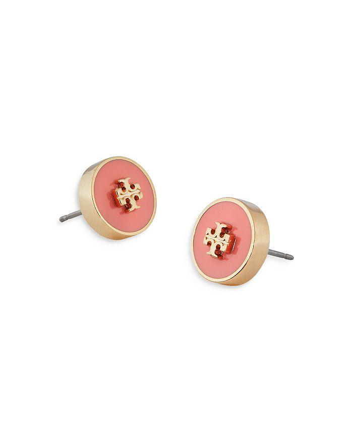 TORY BURCH Earrings KIRA ENAMEL CIRCLE STUD EARRINGS