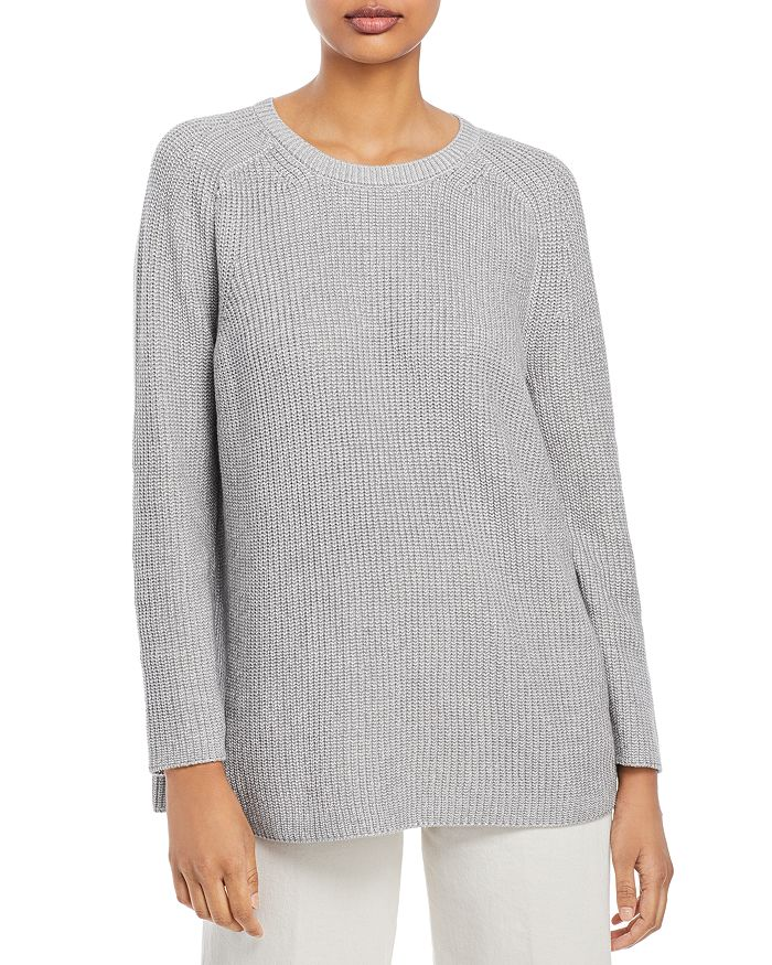 Eileen Fisher - Crewneck Flat Saddle Pullover Sweater