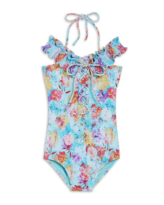 Peixoto Girls' Ava Floral Print One Piece Swimsuit - Little Kid, Big Kid In Sky Garden