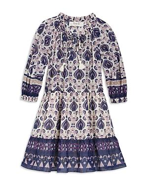 Sea Cottons GIRLS' BRIGITTE BORDER PRINTED DRESS - LITTLE KID