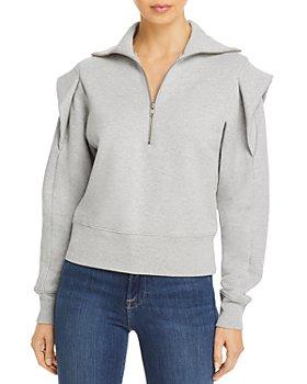 FRAME - Sporty Zip Front Sweatshirt