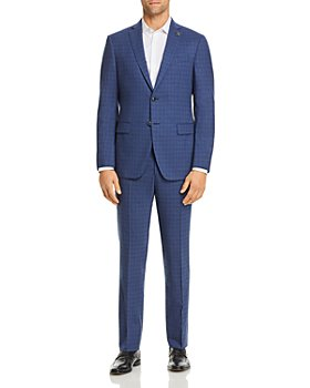 John Varvatos Star USA - Bleecker Plaid Slim Fit Suit Separates