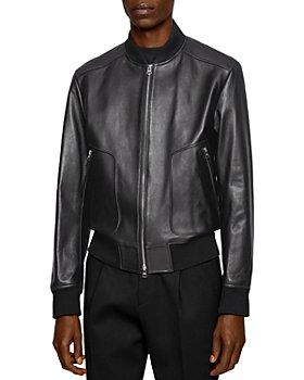 BOSS - Nipet Leather Bomber Jacket