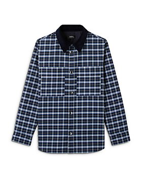 A.P.C. - Tibo Plaid Regular Fit Button Down Shirt Jacket