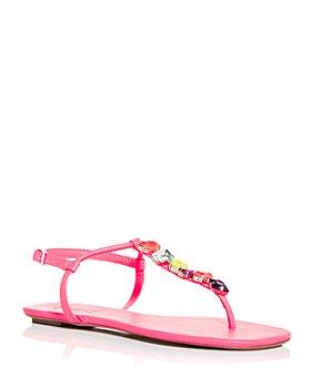 SCHUTZ - Women's Eryl Embellished Thong Sandals