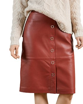 Ted Baker - Leather Pencil Skirt