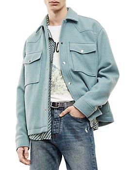 The Kooples - Wool Blend Trucker Jacket