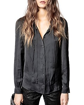 Zadig & Voltaire - Taos Satin Tie Neck Top
