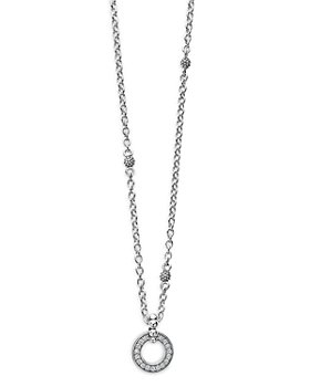 "LAGOS - Sterling Silver Caviar Spark Diamond Pendant Necklace, 18"""