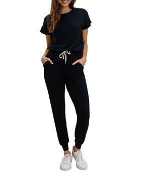 Splendid - Flora Short Sleeve Jumpsuit