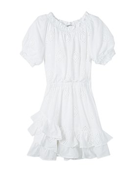 Habitual Kids - Girls' Ruffled Eyelet Peasant Dress - Big Kid