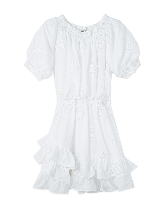 Habitual Kids - Girls' Ruffled Eyelet Peasant Dress - Big Kid