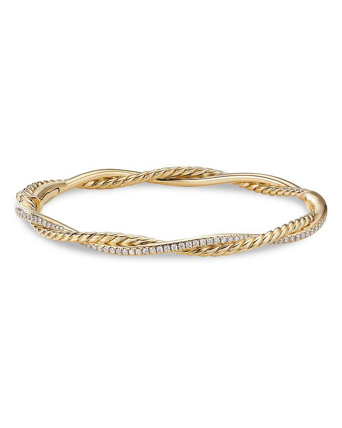 DAVID YURMAN Bracelets 18K YELLOW GOLD PETITE INFINITY BRACELET WITH DIAMONDS