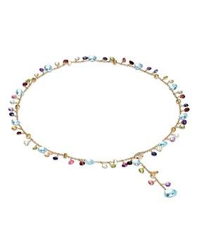 "Marco Bicego - 18K Yellow Gold Paradise Diamond and Mixed Gemstone Lariat Necklace, 17"""