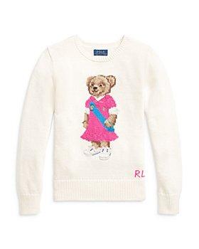 Ralph Lauren - Girls' Polo Bear Sweater - Little Kid, Big Kid