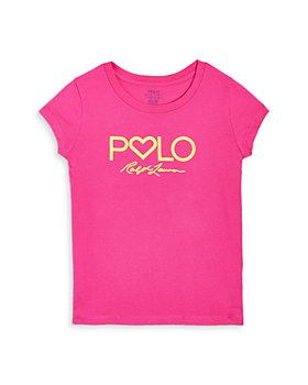 Ralph Lauren - Girls' Heart Logo Tee - Little Kid, Big Kid