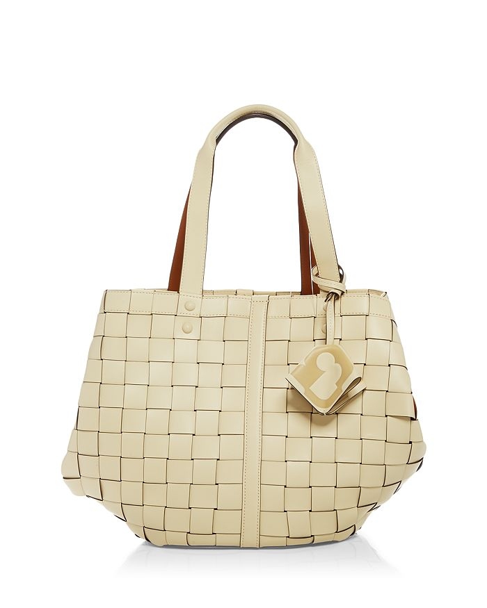 Tory Burch SETE LEATHER WOVEN TOTE