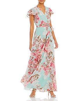 Eliza J - Flowing Floral A Line Gown