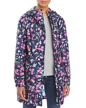Joules - GoLightly Floral Print Packable Raincoat