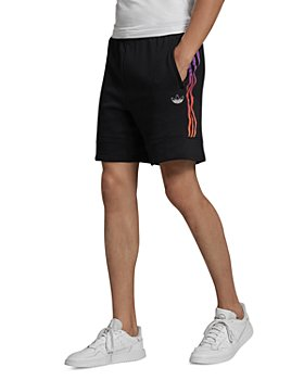 adidas Originals - Foundation Cotton French Terry Ombré 3-Stripes Regular Fit Sweat Shorts