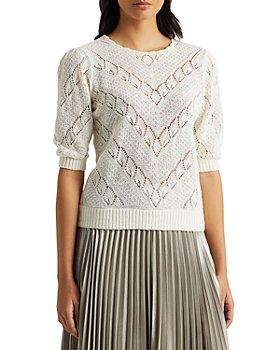 Ralph Lauren - Chevron Pointelle Linen Sweater