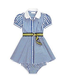 Ralph Lauren - Girls' Striped Shirt Dress, Belt & Bloomers Set - Baby