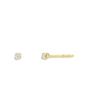 Zoe Lev 14K Yellow Gold Diamond Mini Stud Earrings