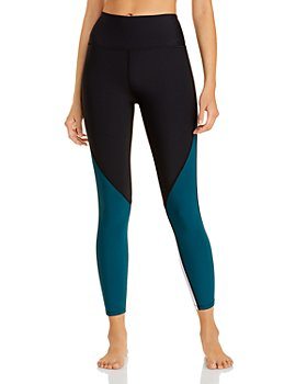 AQUA - Athletic Color Blocked High Rise Leggings - 100% Exclusive