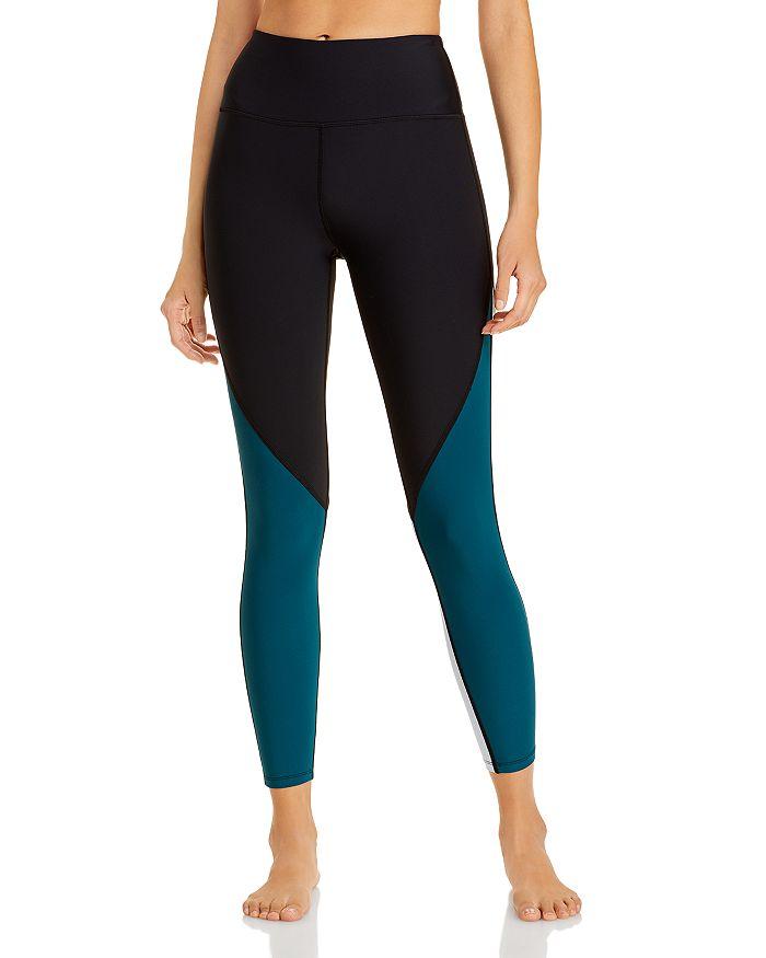 AQUA - Athletic Color Blocked High Rise Leggings - 100% Exclusive