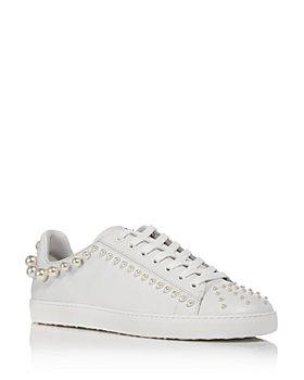 Stuart Weitzman - Women's Goldie Embellished Low Top Sneakers
