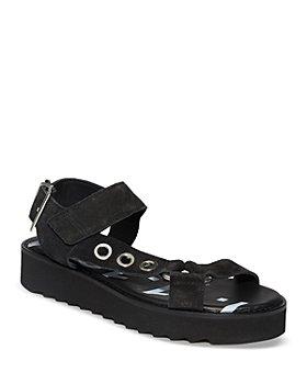ALLSAINTS - Women's Rhianne Black Suede Sandals