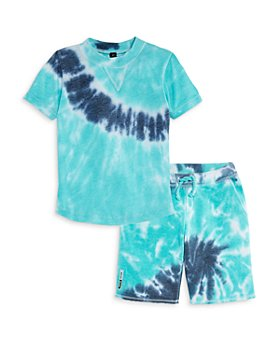 Vintage Havana - Boys' Tie-Dye Tee & Fleece Shorts - Little Kid, Big Kid