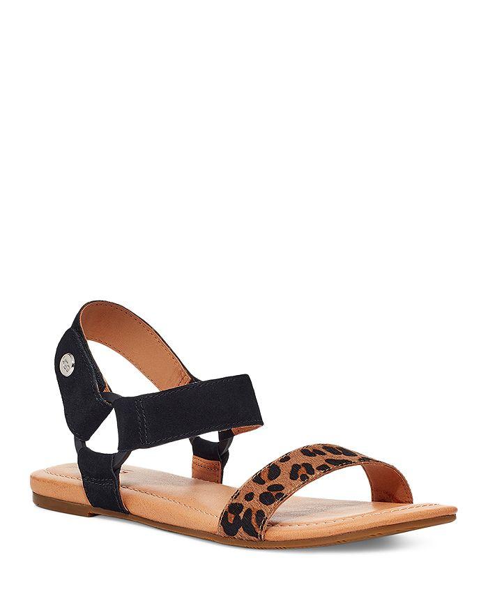 UGG® - Women's Rynell Leopard Print Calf Hair Sandals