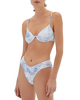Jonathan Simkhai - Bridgette Tie Dye Underwire Bikini Top & Camila Tie Dye High Cut Bikini Bottom