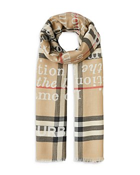 Burberry - Love and Check Cashmere Jacquard Scarf