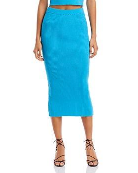 FORE - Ribbed Midi Skirt