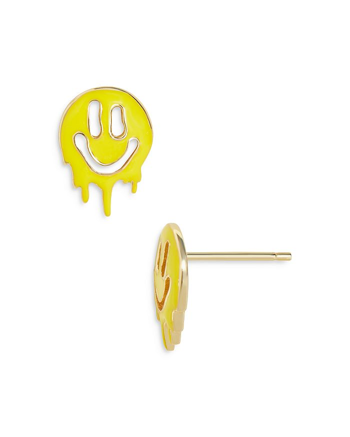 Baublebar Earrings LETTIE MELTING SMILEY FACE STUD EARRINGS IN 18K GOLD PLATED STERLING SILVER