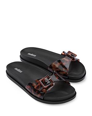 Women's Wide Buckled Slip On Slide Sandals