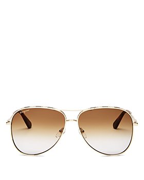 Salvatore Ferragamo - Women's Brow Bar Aviator Sunglasses, 62mm