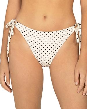 Peony Printed Side Tie Bikini Bottom