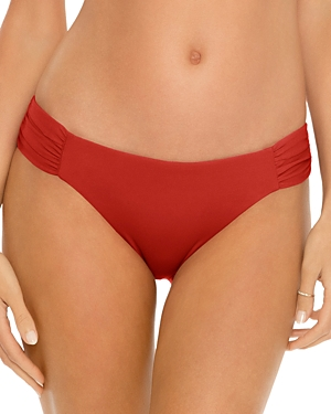 Color Code Shirred Bikini Bottom