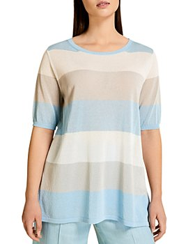 Marina Rinaldi - America Striped Crepe Top