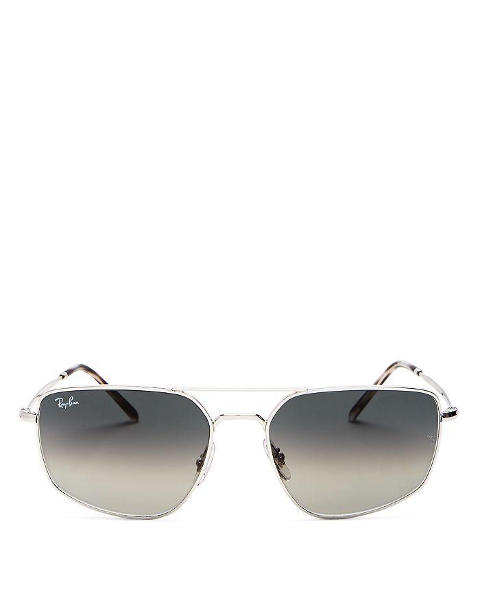 Ray Ban Ray-ban Unisex Geometric Sunglasses, 56mm In Gray
